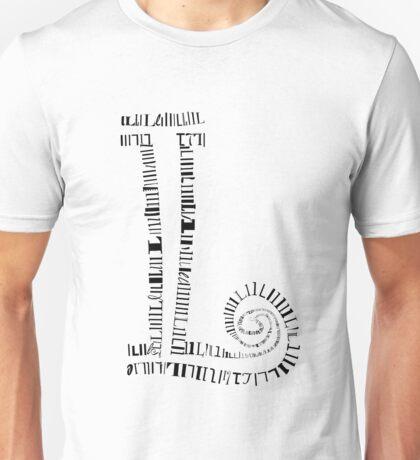 L letter Unisex T-Shirt