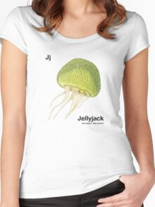 Jj - Jellyfruit // Half Jellyfish, Half Jackfruit Women's Fitted Scoop T-Shirt