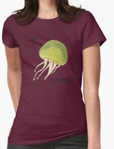 Jj - Jellyfruit // Half Jellyfish, Half Jackfruit Womens Fitted T-Shirt