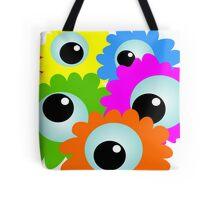 Wacky Cartoon Eyes Tote Bag