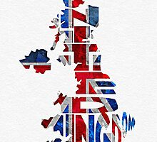 United Kingdom Typographic Kingdom by A. TW