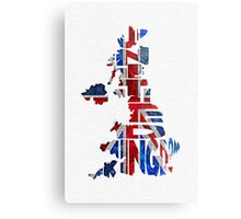 United Kingdom Typographic Kingdom Metal Print