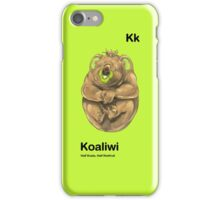 Kk - Koaliwi // Half Koala, Half Kiwifruit iPhone Case/Skin
