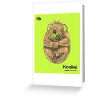 Kk - Koaliwi // Half Koala, Half Kiwifruit Greeting Card