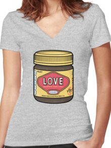 A Jar of Love Women's Fitted V-Neck T-Shirt