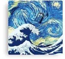 Tardis Great Wave Canvas Print