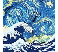 Tardis Great Wave Photographic Print