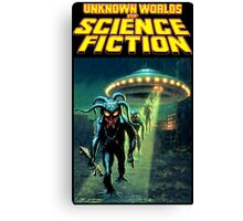 Unknown Worlds of Science Fiction Canvas Print