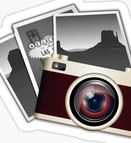 Vintage, Camera, Photographer, Photos, SLR Sticker