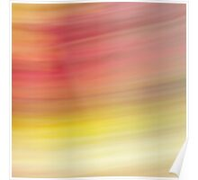 A world in slo' mo' - yellow, pink and orange flowers Poster