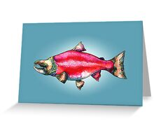 The Salmon of Doubt Greeting Card