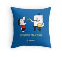 Mis obras me dan de comer - Primary v1 Throw Pillow