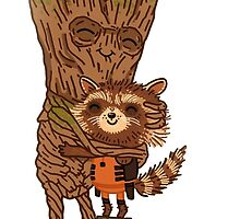 Groot and Rocket by CkerCky