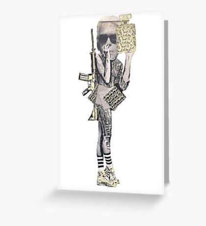 Graffiti Warrior Greeting Card