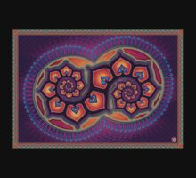 Spirituel abstract poster designs - Lotus Spiral Baby Tee