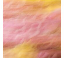 A world in slo' mo' - ripples in pink Photographic Print