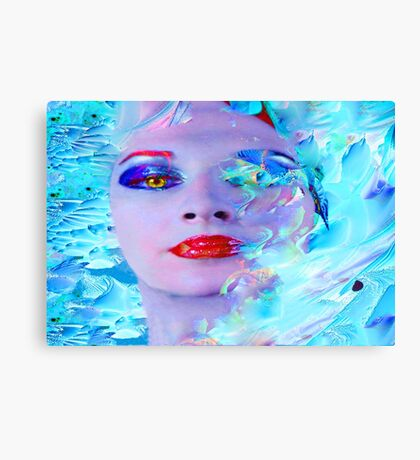 Swimming into the Blue Canvas Print