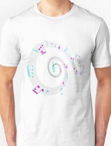 Music Notes Swirl Design Unisex T-Shirt
