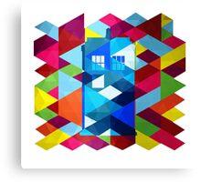 Geometric TARDIS Canvas Print