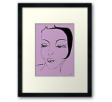 Die Ikone in Lavendel - The Icon in Lavender Framed Print