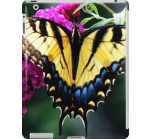 #140 Tiger Swallowtail On Butterfly Bush iPad Case/Skin