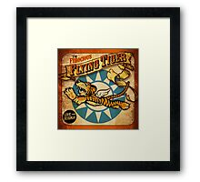 """""""FLYING TIGER"""" VINTAGE  Framed Print"""