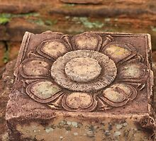 Stone Flower, Cambodia by shoelock