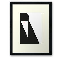 The Red Lady - Head N°2 Framed Print