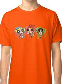 The PowerPuff Girls Paint Splatter Design Classic T-Shirt