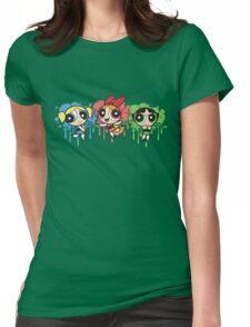 The PowerPuff Girls Paint Splatter Design Womens Fitted T-Shirt