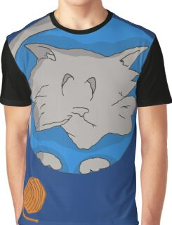 Cat planet with Yarn moon Graphic T-Shirt