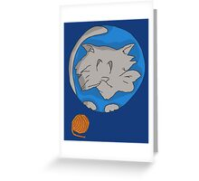 Cat planet with Yarn moon Greeting Card