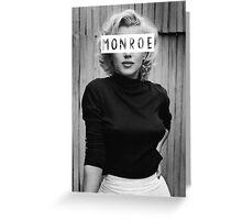 Monroe #3 Greeting Card