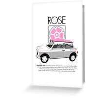 Classic 1989 Mini Rose  Greeting Card
