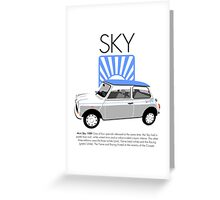Classic 1989 Mini Sky Greeting Card