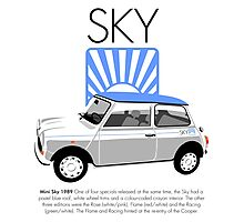 Classic 1989 Mini Sky Photographic Print