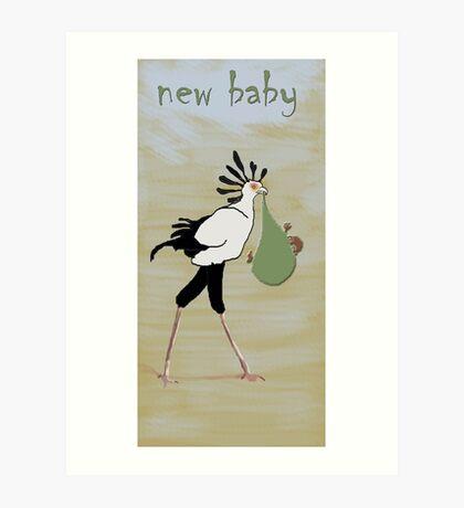 Secretary Bird Stork Art Print