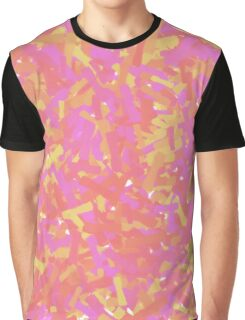 Pink and Red Abstract Paint Brushstrokes Graphic T-Shirt