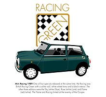 Classic 1989 Mini Racing Photographic Print