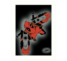 Deadpool Falling  Art Print