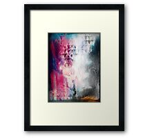 Watercolor Smudge Painting Abstract Geometric Triangles Framed Print