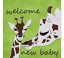welcome new baby Photographic Print