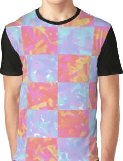 Checkered Abstract Art Design Graphic T-Shirt