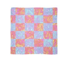 Checkered Abstract Art Design Scarf
