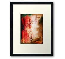 Abstract Painting Geometric Splash Red Green Brown Framed Print