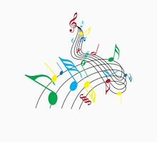 Colorful Music Notes on a Swirl Design Women's Tank Top