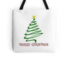 Merry Christmas design (Swirly Christmas Tree) Tote Bag