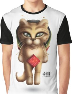 Rastaman Cat Graphic T-Shirt