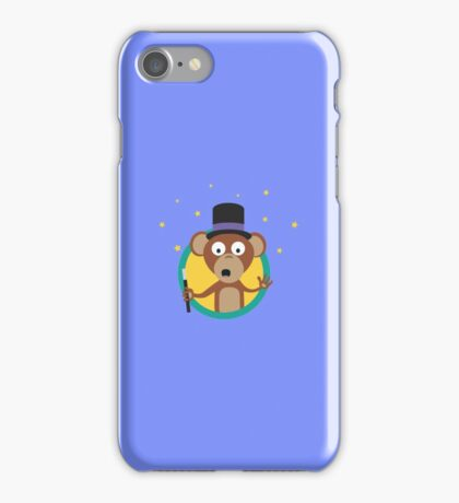 Monkey wizard with stars iPhone Case/Skin