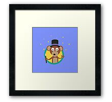 Monkey wizard with stars Framed Print